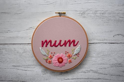 Mum's Flowers Hoop