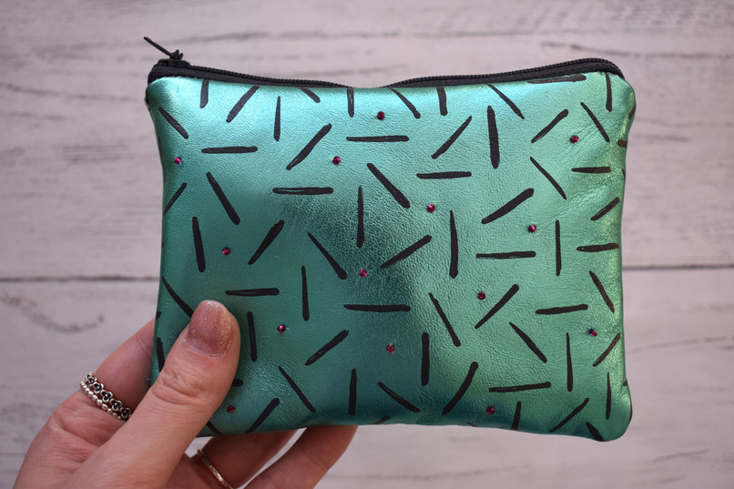 Metallic Green Pouch