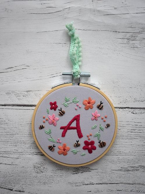 Bloom Floral Letter Decoration