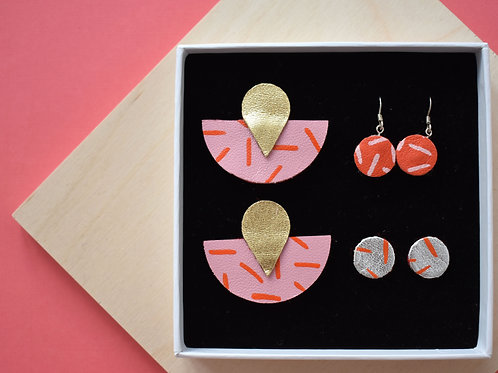 Half Moon Earring Gift Set