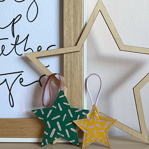 Mini Leather Star Decoration