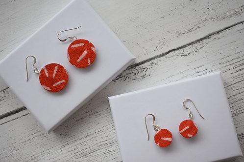 Leather Painted Hook Earrings