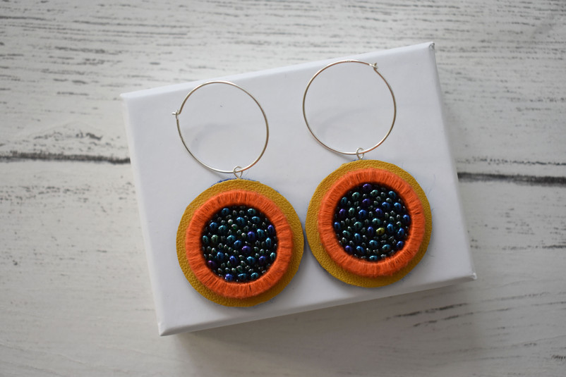 Embellished XL Hoops