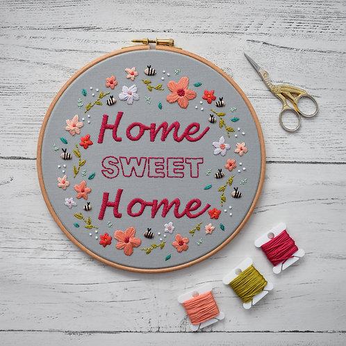 Floral Home Sweet Home Hoop
