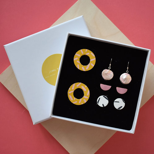 Open Stud Earring Gift Set