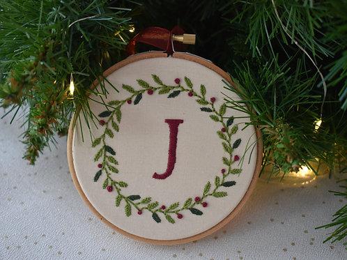 Initial Wreath Christmas Decoration