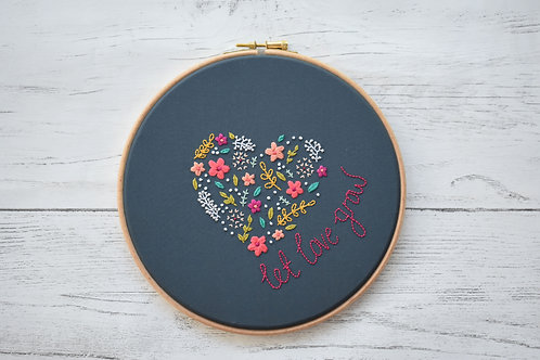 Let Love Grow Embroidery Hoop