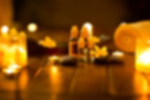 Massage oils in muffled light,  idyllic atmosphere for the massage.jpg
