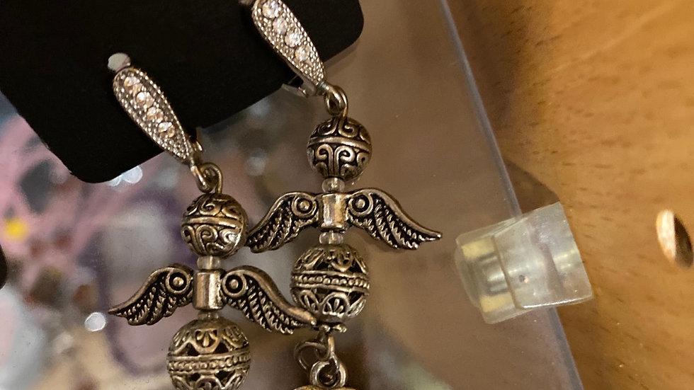Tibitaanse zilver: angel earings