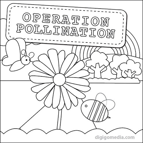 Operation Pollination Coloring Page 1