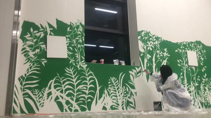 mural painting (botanical)
