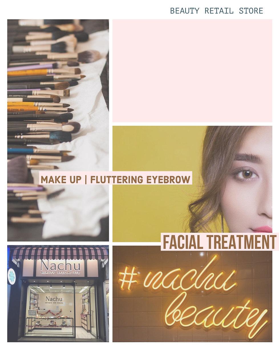Nachu Makeup Skincare Beauty Fluttering eyebrow Natural Skincare Booking