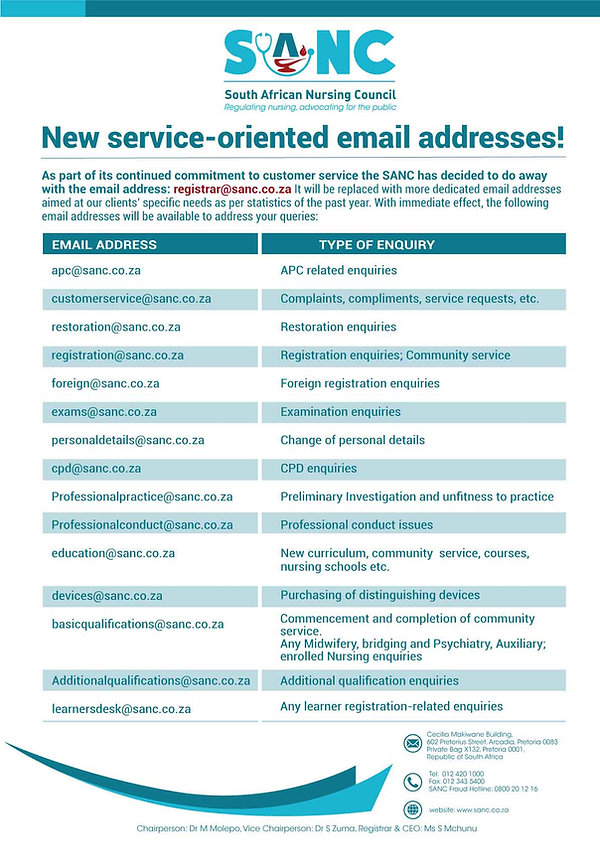 SANC-New-service-oriented-email-addresse