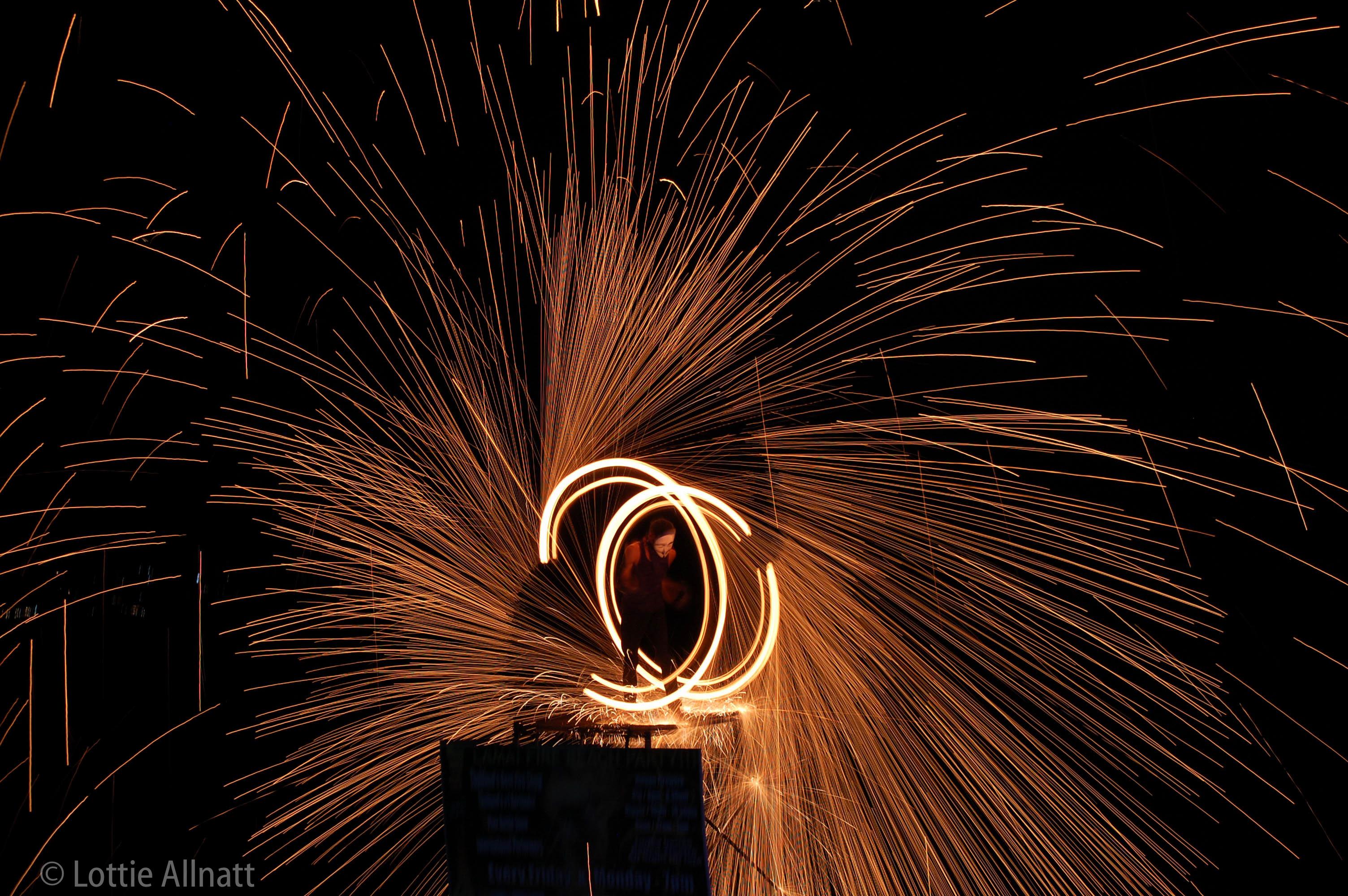 Fire show Lottie Allnatt Photography