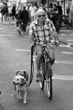 Amsterdam Biker and Dog