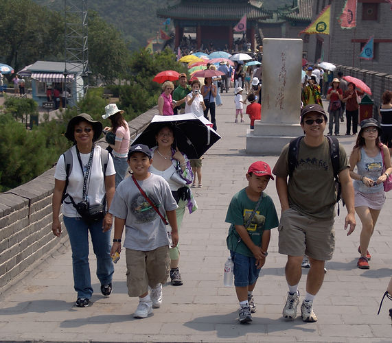 Brian Ten at Great Wall, China