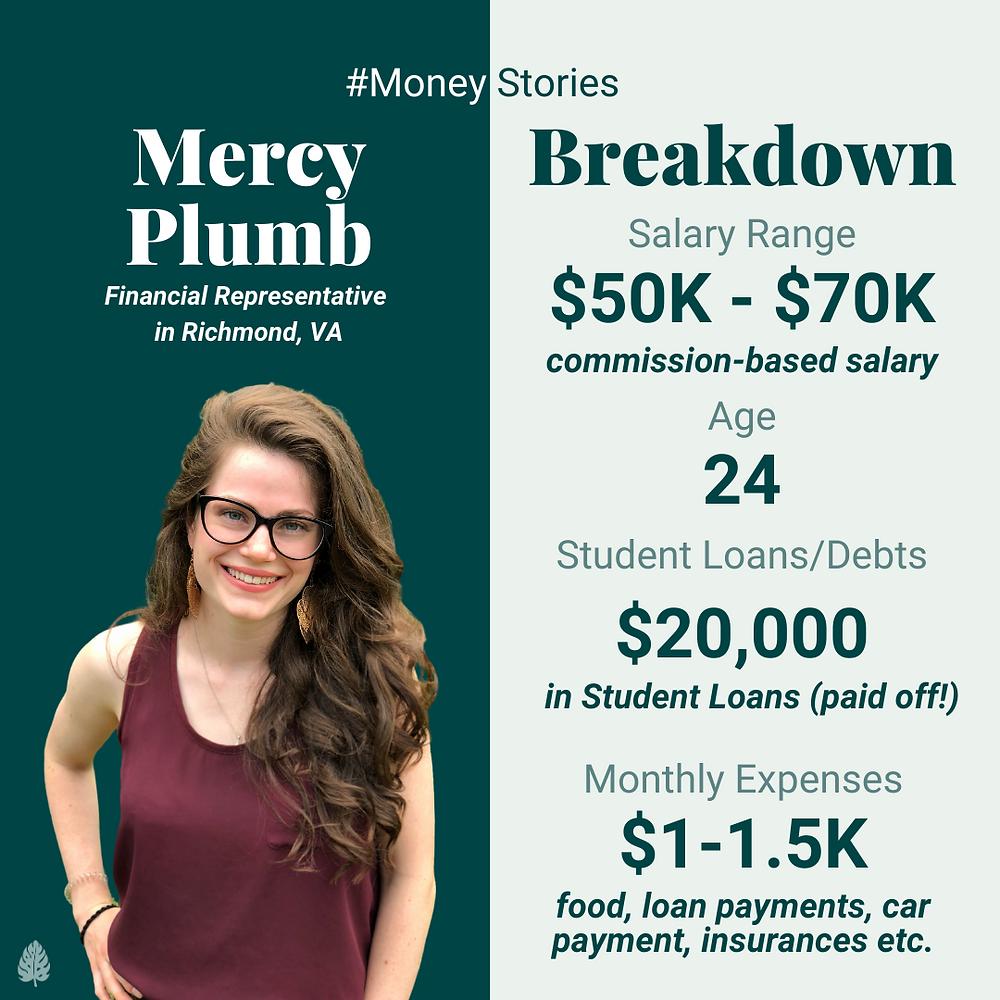 mercy plumb money story