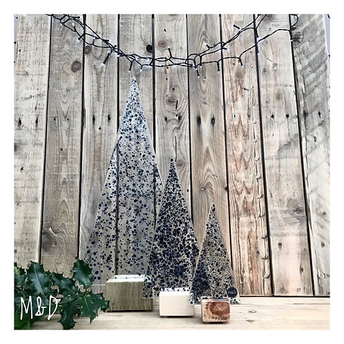 Blue Christmas Tree Collection from £8 - £60