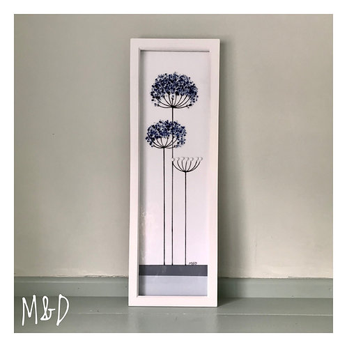 Box Frame Tall Blue Agapanthus