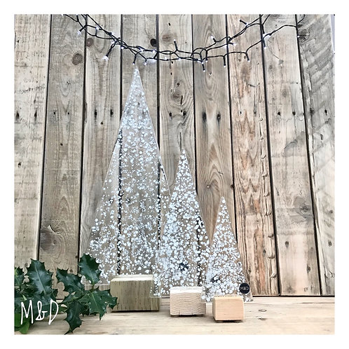 White Christmas Tree Collection from £8 - £60