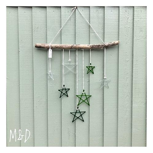 Driftwood Wall Art - Good Vibes Green - *Sold*