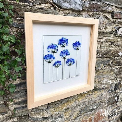 Box Frame Medium Blue Agapanthus