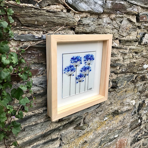 Box Frame Small Blue Agapanthus