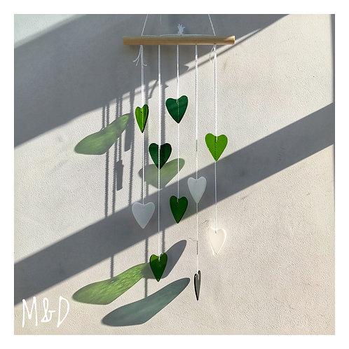 Heart Waterfall -Lime & Moss