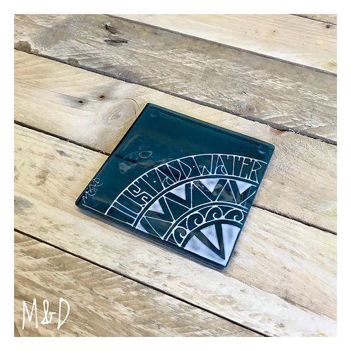 Coaster Polynesian Design with added wording