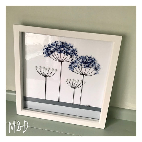 Box Frame Medium Blue Agapanthus