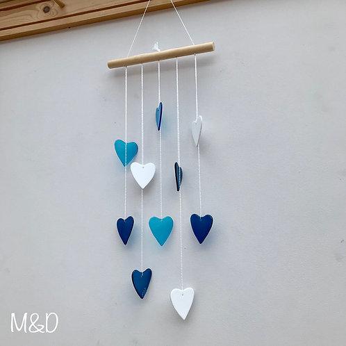 Heart Waterfall - Turquoise & Teal