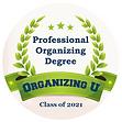 Organizing U - Degree Program Badge 2021