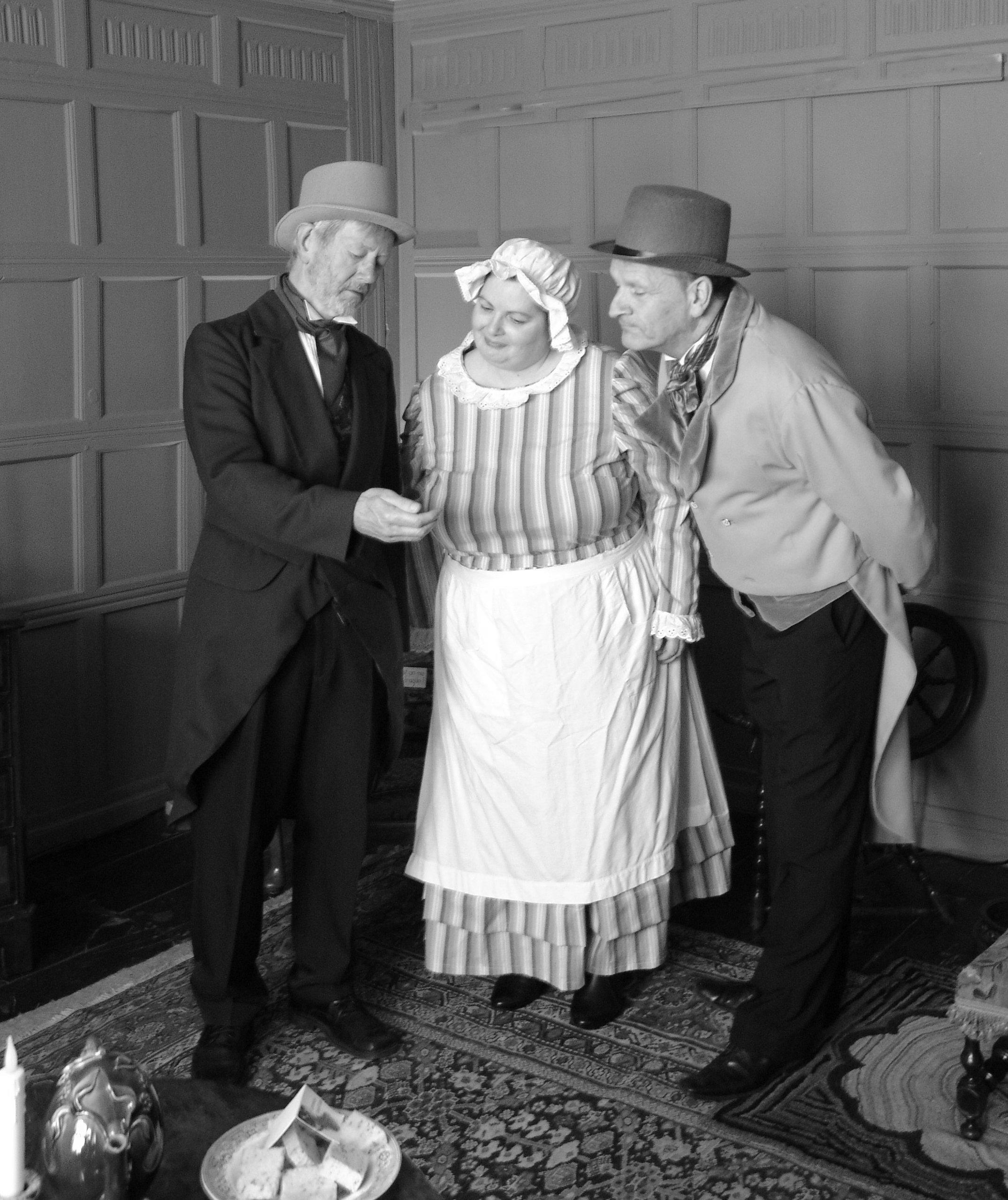 Mr Brownlow, Mrs Bedwin, Mr Grimwig