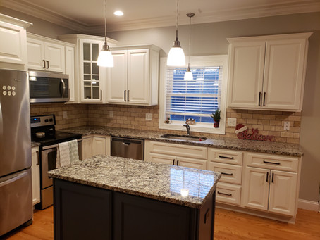 How do I care for my professionally painted cabinets in East Hampton, Connecticut?