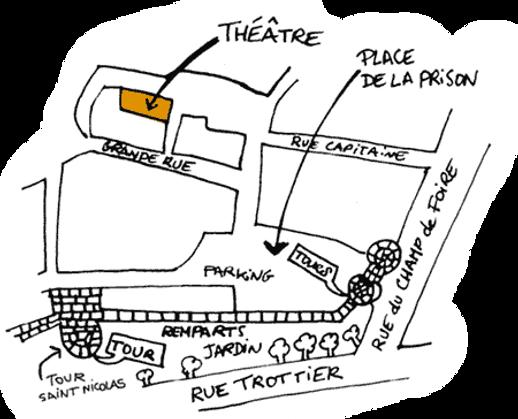Plan accès - Théâtre à la Coque