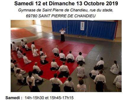 """Stage d""""Aïkido du 12 et 13 Octobre dirigé par Leman Sensei"""
