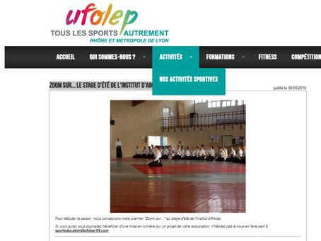 UFOLEP Zoom sur... le stage d'été de l'Institut d'Aikido