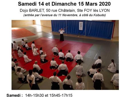 Stage d'aïkido dirigé par Leman Senseï