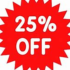 25% Off Appetizers