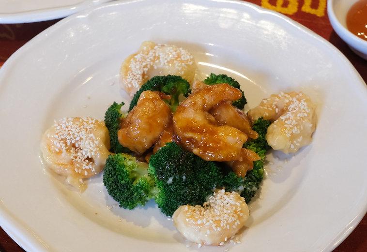 Mandalay Shrimp from Mandalay Asian Fusion Cuisine Chinese Restaurant in High Point, North Carolina.