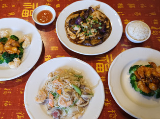 Food from Mandalay Asian Fusion Cuisine Chinese Restaurant in High Point, North Carolina.
