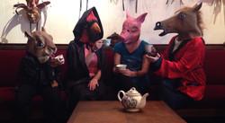 R9 staff enjoys a cup of tea