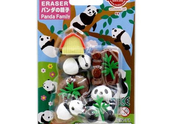 Iwako Eraser Set: Pandas