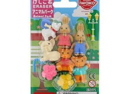 Iwako Eraser Set: Animal Park