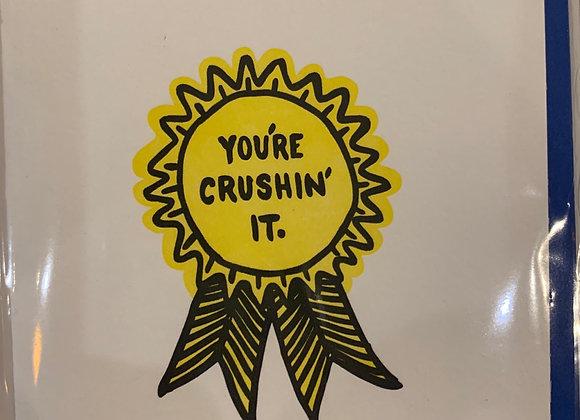 Graduation Card: Crushin' It