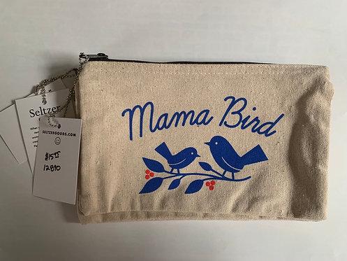 Mama Bird Canvas Pouch