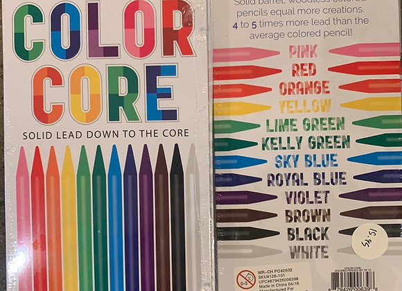 Solid Color Pencils: Set of 12
