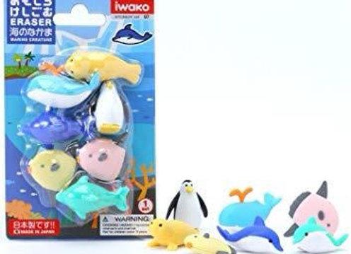 Iwako Eraser Set: Sea
