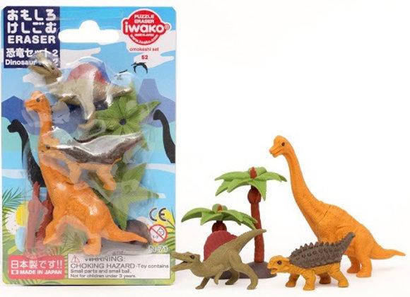 Iwako Eraser Set: Dinosaurs 2