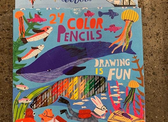24 Color Pencils